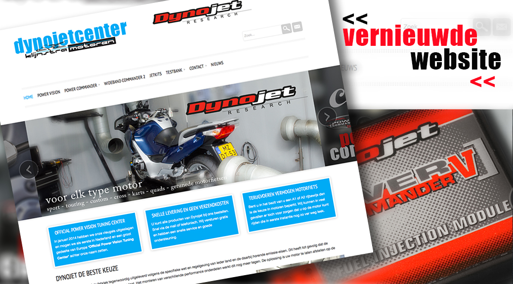 Vernieuwde website Dynojetcenter